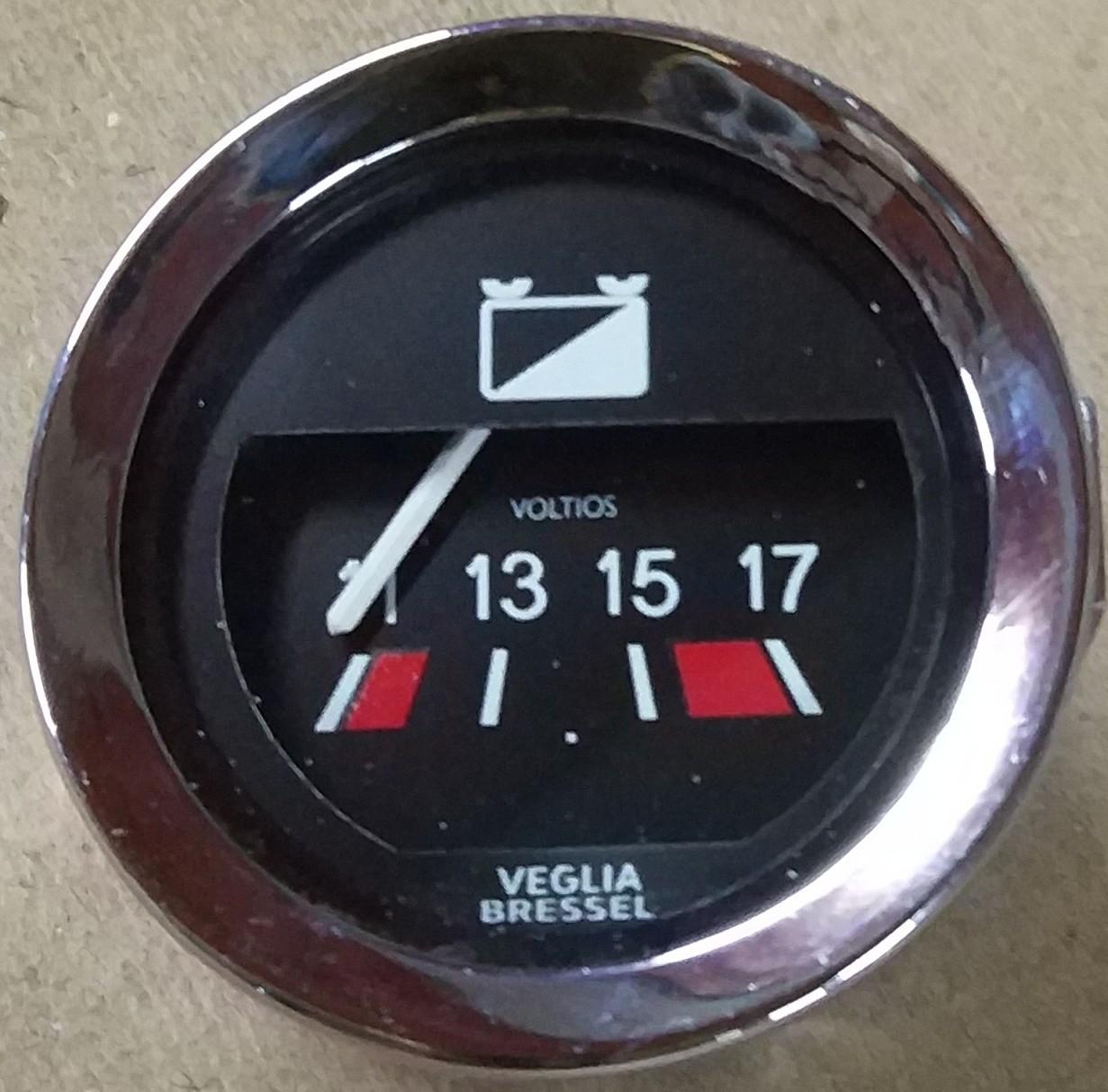 Voltímetro Veglia Bressel 52mm Mini Cooper